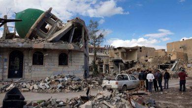 Photo of شام ، ہجین میں ایک مسجد پر امریکی اتحاد کی بمباری