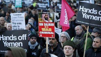 Photo of لندن کی سڑکوں پر سعودی عرب کے خلاف مظاہرہ