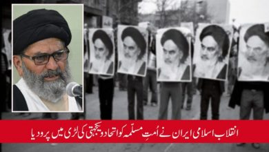 Photo of انقلاب اسلامی ایران نے اُمتِ مسلّمہ کو اتحاد و یکجہتی کی لڑی میں پرو دیا، قائد ملت علامہ ساجد نقوی