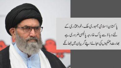 Photo of پاکستان اسلامی جمہوری ملک، خود مختاری کےلئے دباﺅ سے پاک خارجہ پالیسی ضروری ہے ،  قائد ملت جعفریہ