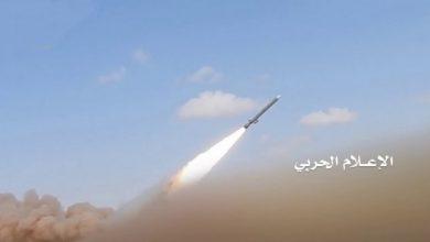 Photo of جارح سعودی اتحاد کے فوجی اڈے پر یمنی فوج کا میزائلی حملہ