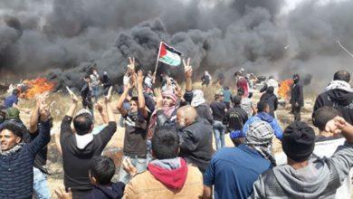 Photo of فلسطینیوں کے مارچ پر صیہونی بربریت83 زخمی