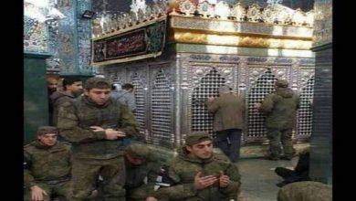 Photo of روضہ زینبی میں روسی فوجیوں کی نماز