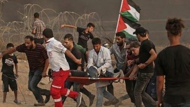 Photo of 76 حق واپسی مارچ پر فائرنگ ، ایک فلسطینی شہید باون زخمی