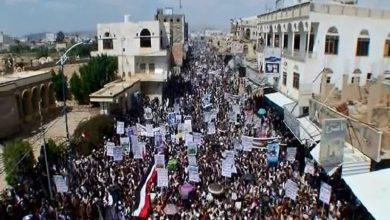 Photo of الحدیدہ میں یمنی عوام کا زبردست اجتماع و مظاہرہ