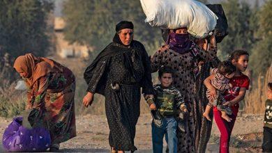 Photo of شمالی شام پر ترکی کے حملے کے نتیجے میں ساٹھ ہزار سے زیادہ افراد بے گھر