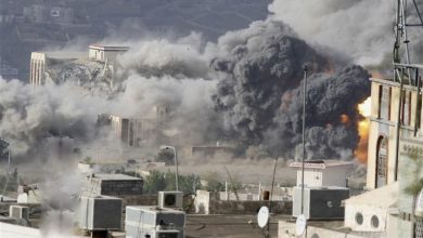 Photo of یمن کی بندرگاہ الحدیدہ پر سعودی اتحاد کے بیس حملے