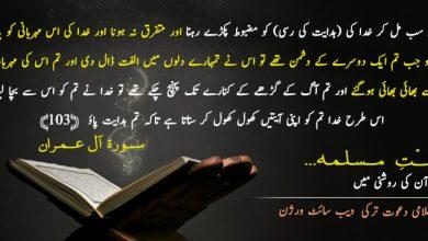 Photo of قرآن کی روشنی میں امّتِ مسلمہ …