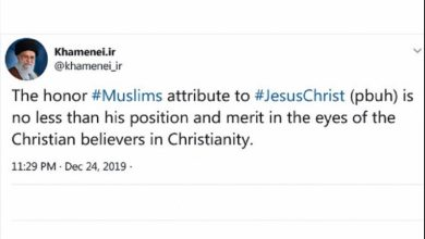 Photo of حضرت عیسی کی حقیقی پیروی عدل و انصاف کی راہ اختیار کرنے سے ہی ممکن ہے: رہبر انقلاب اسلامی
