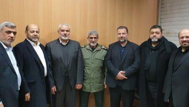 Photo of سپاہ قدس کے نئے کمانڈر سے حماس کے رہنماؤں کی ملاقات