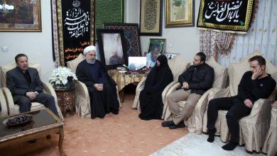 Photo of شہید قاسم سلیمانی کے اہل خانہ سے صدر روحانی کی ملاقات