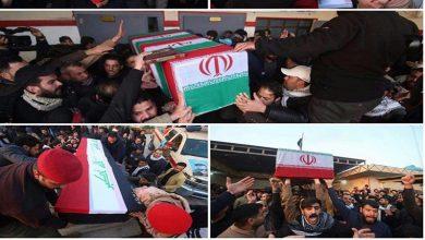 Photo of کاظمین میں شہید قاسم سلیمانی اور شہید ابو مہدی کی تشیع جنازہ