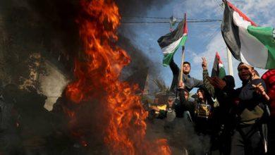 Photo of امریکی و صیہونی منصوبے کے خلاف فلسطینیوں کا مظاہرہ ۔ ویڈیو