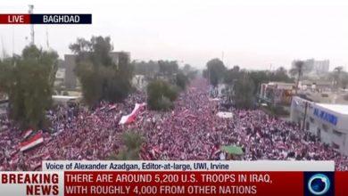 Photo of امریکی دہشتگردوں کے خلاف عراقی عوام کا تاریخی میلین مارچ/تصاویر