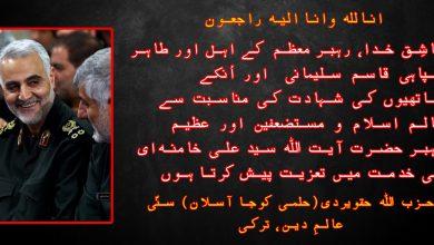 Photo of حزب اللہ حقویردی(حلمی کوجا آسلان) کا تعزیتی پیغام….