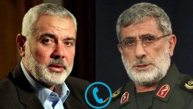 Photo of قدس فورس کے کمانڈر کی حماس اور جہاد اسلامی کے رہنماوں سے گفتگو