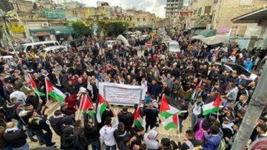 Photo of سنیچری ڈیل کے خلاف فلسطینی شہریوں کا احتجاجی مظاہرہ