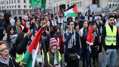 Photo of برسلز میں اسرائیل کے خلاف سیکڑوں افراد کا مظاہرہ