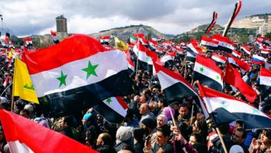 Photo of دمشق میں شامی عوام کے خلاف امریکہ مخالف مظاہرے