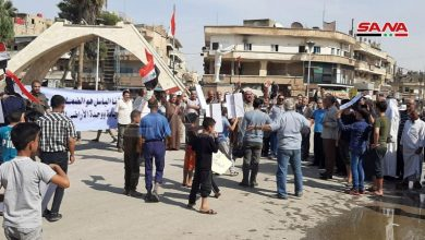 Photo of شام میں امریکی آلہ کاروں کے خلاف مظاہرہ