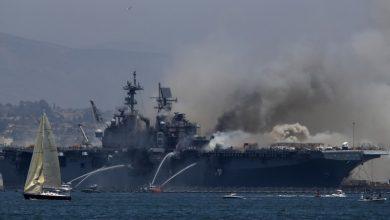 Photo of امریکی بحری جنگی جہاز میں لگنے والی آگ پردوسرے دن بھی قابو نہیں پایا جاسکا