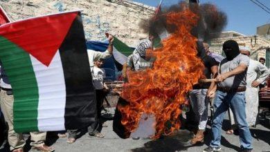 Photo of قبلہ اول بیت المقدس سے خیانت کرنے پرعرب امارات کا پرچم نذرآتش