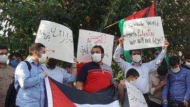 Photo of متحدہ عرب امارات کے سفارتخانے کے سامنے ایرانی طلباء کا احتجاجی مظاہرہ