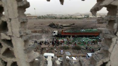Photo of یمن، غذائی اشیاء کے حامل ٹرک پر سعودی بمباری، متعدد شہید و زخمی