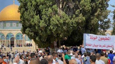 Photo of فلسطینیوں کا مظاہرہ، غداروں سے نفرت و بیزاری کا اعلان