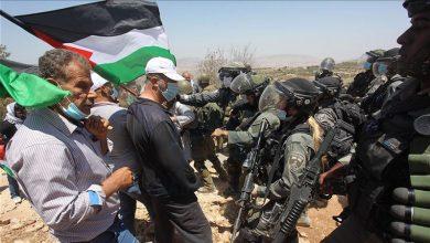 Photo of فلسطینیوں کے مظاہرے پر صیہونی دہشتگردوں کی یلغار، 20 زخمی