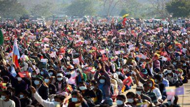 Photo of میانمار میں فوجی بغاوت کے خلاف مظاہروں میں شدت