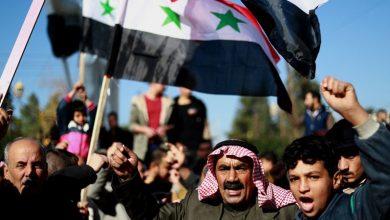Photo of شامی علاقوں کے محاصرے کے خلاف احتجاجی مظاہرہ