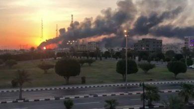 Photo of سعودی آئل ریفائنری پر ڈرون حملے کے بعد خوفناک آتشزدگی